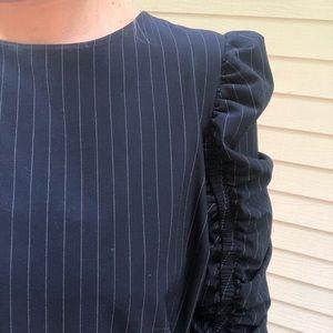 NWT Zara Pinstripe Top